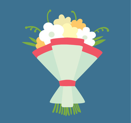 wedding celebration: Wedding bouquet vector illustration