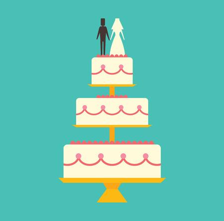 wedding cake isolated: Wedding cake Isolated on background.  Illustration