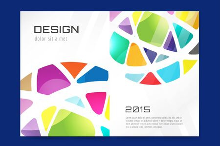 polygraph: Abstract brochure design template