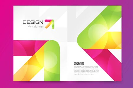 polygraph: Abstract brochure or flyer design template. Book design, blank, print design, journal. Brochure template. Flyer design. Flyer template. Brochure abstract design. Brochure background Stock Photo