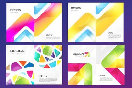 polygraph: Abstract brochure or flyer design template. Book design, blank, print design, journal. Brochure template. Flyer design. Flyer template. Brochure abstract design. Brochure background Stock Photo