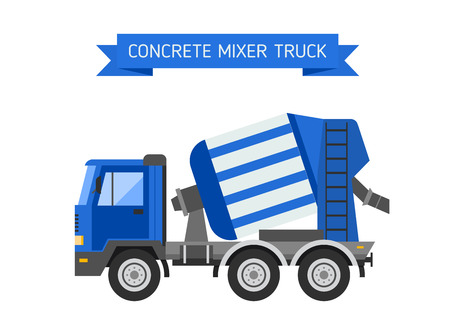 technics: Building under construction cement mixer machine technics vector illustration. Building cement mixer machine truck vector. Under construction vector concept. Mixer vector isolated. Cement mixer Illustration