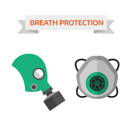 personal protective equipment: Safety work icons flat style. Safety icons vector illustration. Safety icons isolated on white background. Safety work icons. Safety symbols elements collection. Safety at work vector icons collection