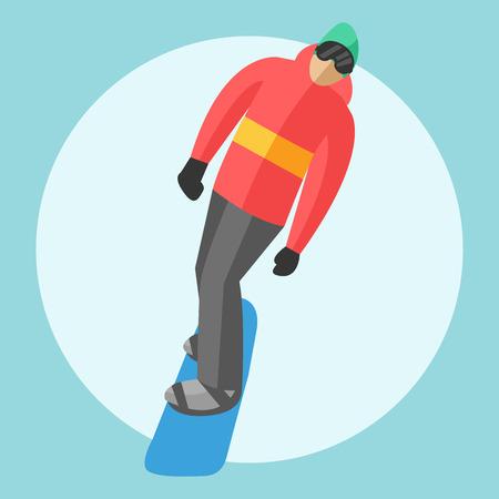 chairlift: Snowboarder sitting in ski gondola and lift elevators. Winter sport resort background. Snowboard people rest. Snowboarder lifting. Special snowboard elevators. Ski elevators vector. Snowboard jump