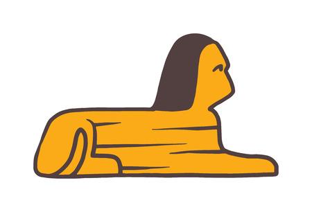 esfinge: vector de la cabeza de la esfinge. s�mbolos tradicionales de Egipto - Sphinx cabeza. Los iconos de la cabeza de la esfinge. Sphinx cabeza aislada en el fondo blanco. Pir�mide de la cabeza de la esfinge. Vectores