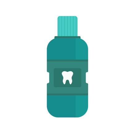 breath: Fresh breath mouthwash vector. Breath of fresh vector. Bottle of mouthwash. Blue bottle of Fresh breath. Vector illustration Fresh breath. Dental Fresh breath mouthwash vector.