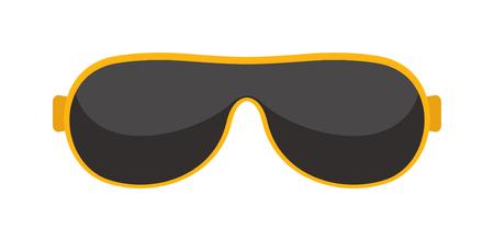 eyewear: Vector fashion glasses isolated on white. Illustration