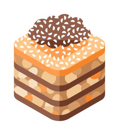 middle eastern food: Eastern sweets vector. Illustration