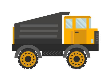 tipper: Vector tipper illustration. Illustration