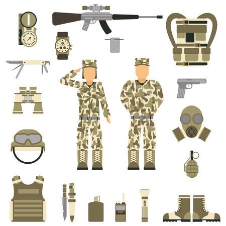 Military Symbols Vector Illustration Royalty Free Cliparts Vectors