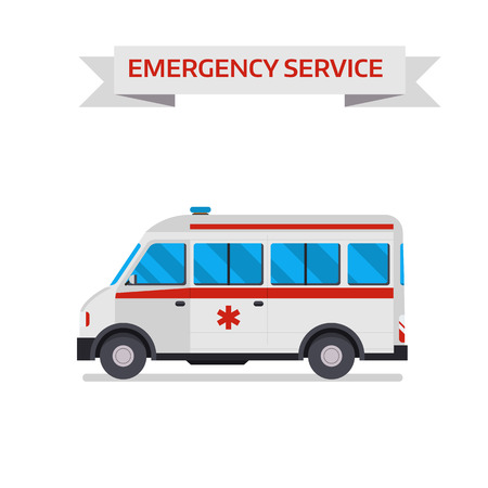 Ambulance Or Emergency Cars Signs Or Symbols Isolated On White