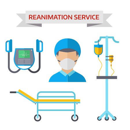 reanimation: Reanimation symbols vector illustration. Illustration