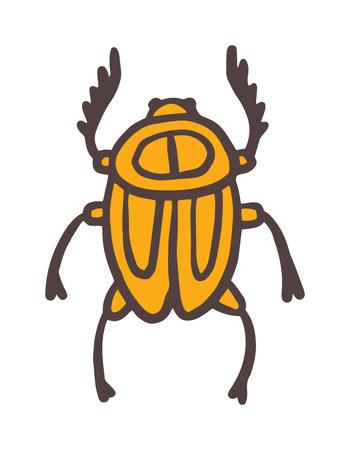 scarab: Egypt scarab beetle vector illustration.