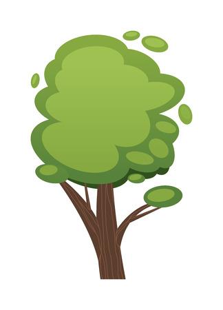 serengeti: Cartoon tree vector illustration. Illustration