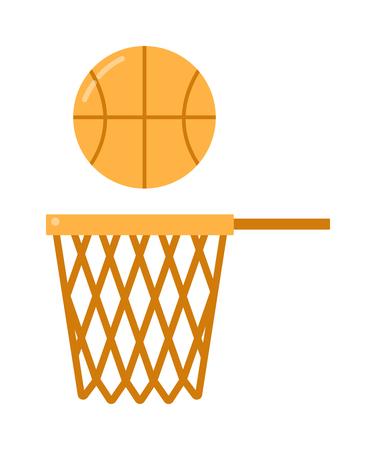 net: basketball ball net vector illustration. Illustration