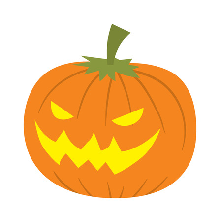 glowing carved: Pumpkin head vector illustration. Illustration