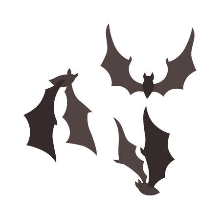 bat: Vampire bat vector illustration.
