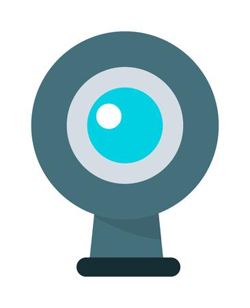 web: Web camera vector illustration. Illustration