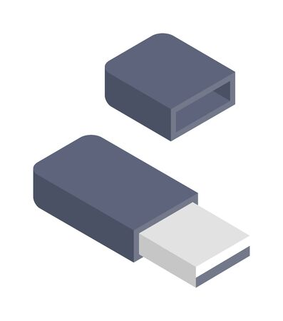 usb flash memory: Flash drive vector illustration. Illustration