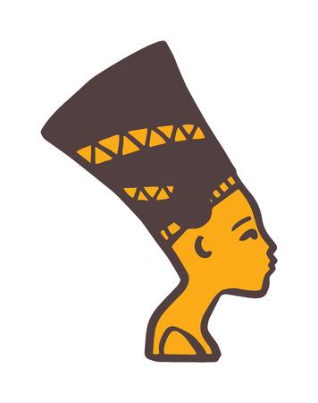 tutankhamen: Pharaoh head vector illustration.