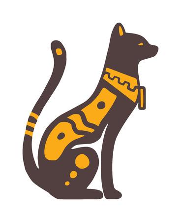cat goddess: Egypt cat vector illustration.