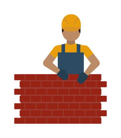 Bauarbeiter Vektor-Illustration. Bauarbeiter auf weißem Hintergrund. Bauarbeiter Vektor-Symbol Abbildung. Bauarbeiter isoliert Vektor-Silhouette Standard-Bild - 53184288