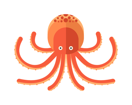 Illustratie van cartoon octopus vector. Illustratie van de octopus. Octopus cartoon stijl. Leuke octopus op wit. octopus cartoon dier onder water. Sea life dieren