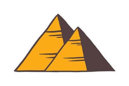 Egypt pyramids vector illustration. Egypt pyramids isolated on white background. Egypt pyramids vector icon illustration. Egypt pyramids isolated vector. Egypt pyramids silhouette Illustration