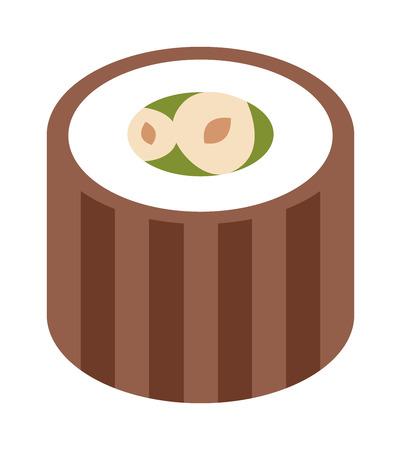 comida arabe: vector de dulces oriental. baklava turco dulce hecho con miel y pistachos. Orientales dulces con miel. Golosinas de oriente comida tradicional �rabe aislado sobre fondo blanco.