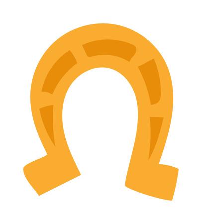 Horseshoe vector. Horseshoe illustration. Horseshoe isolated on white. Horseshoe icon. Horseshoe flat style. Horseshoe silhouette. Horseshoe horse tool. Horseshoe cartoon style Illustration