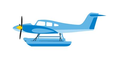light aircraft: Light aircraft single propeller blue plane. Isolated white background light aircraft. Blue plan. Light blue plan. Light aircraft blue plan. Blue plan vector