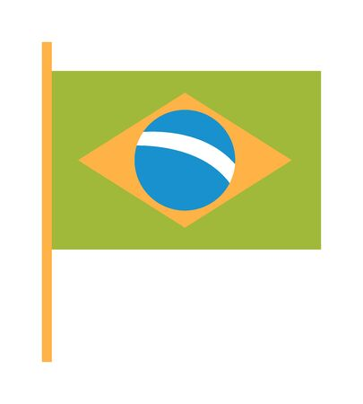 editorial: Brazil flag flat vector illustration. Brazil flag vector. Brazil flag rio. Brazil horizontal green flag.