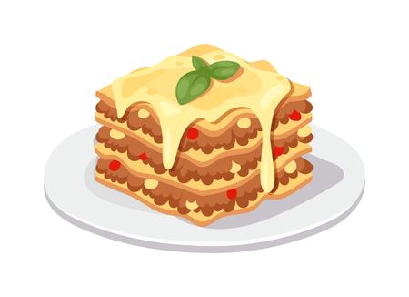 piece of cake: ilustración vectorial pastel de chocolate postre delicioso. Pedazo de pastel de chocolate de postre con hielo y bayas frescas sobre fondo blanco aislado. Postre torta Pedazo de torta con crema, hojas de menta fresca