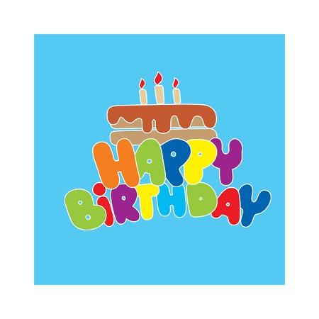 birthday invitation: Happy Birthday Card illustration. Happy Birthday background. Happy Birthday Card design invitation. Happy Birthday Card poster. Happy Birthday Card party