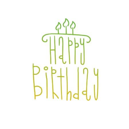 Happy Birthday Card Illustration Happy Birthday Background