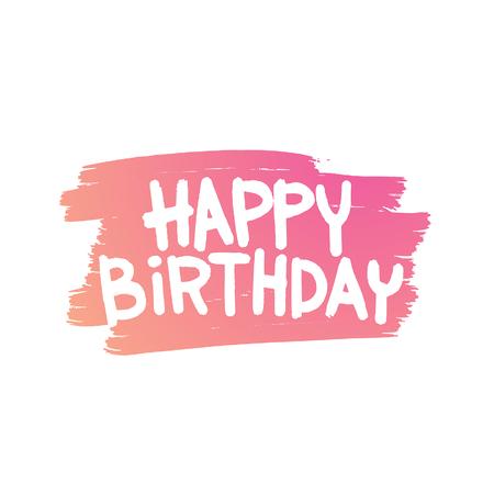 buon compleanno: Buon illustrazione Birthday Card. Compleanno sfondo Felice. Happy Birthday Card disegno invito. Buon manifesto Birthday Card. partito Happy Birthday Card Vettoriali