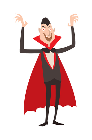 fear cartoon: Vampire Dracula vector. Charming Vampire. Cartoon Dracula Vampire. Vampire Dracula laughing. Cartoon vampire funny character, comic Dracula Halloween Vampire.