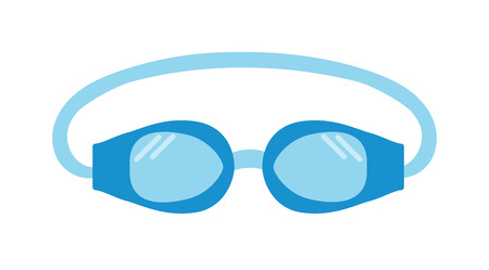 protective eyewear: Pool goggles swimming equipment isolated vector illustration. Goggles. Swimming goggles flat icon. Goggles for swimming flat icon. Pool goggles swimming sport. Pool goggles swimming mask.