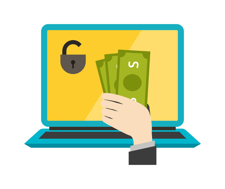 internet safety: Money safety vector. Internet safety illustration. Bank safety isolated on white. Money safety icon flat style silhouette. Bank or money safety concept. Business money safety, banking concept