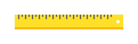 symbol yellow: Ruler flat icon vector illustration, ruler icon. School icon symbol ruler education equipment. Some yellow ruler tool.