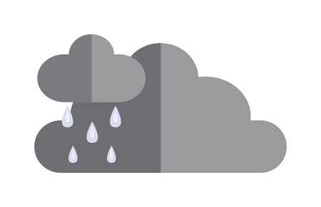 dramatic clouds: Dark storm clouds before rain dramatic cloudscape flat icon vector illustration. Storm cloud meteorology natural scenic symbols. Weather clouds before storm.