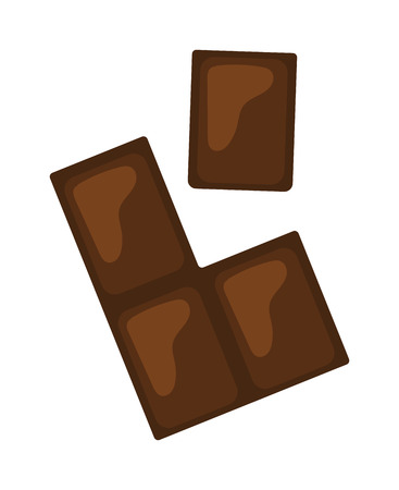 gourmet food: Chocolate pieces vector illustration. Brown chocolate bars stack isolated on white background. Flat hocolate gourmet food. Sweets bars stack candy sweet delicious. Illustration