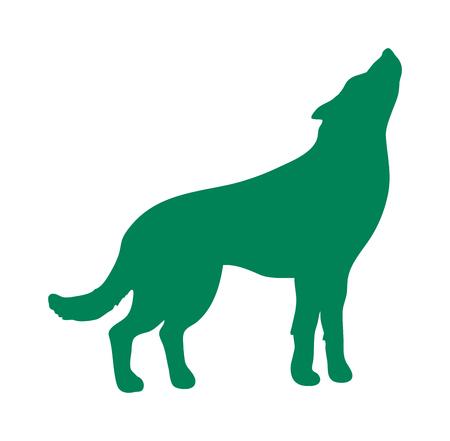 animal silhouette: Wild wolf animal flat vector silhouette and wild animal symbol. Animal silhouette. Wild life animals silhouette. Vector silhouette wild animal zoo vector. Illustration