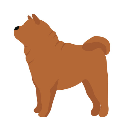 cute dog: Flat dog pet and sitting cute dog vector. Flat dog animal pet vector illustration. Home cute sitting dog flat style. Dog vector silhouette isolated on white background Illustration