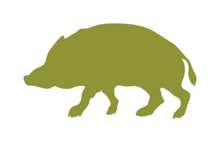 animal silhouette: Wild boar animal flat vector silhouette and wild animal symbol. Animal silhouette. Wild life animals silhouette. Vector silhouette wild animal zoo vector. Illustration