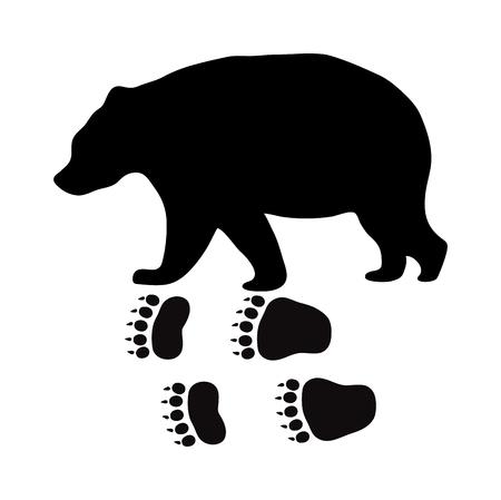 animal silhouette: Wild beer animal black silhouette and wild animal predator symbol. Predator silhouette. Wild life black animal silhouette. Black silhouette wild animal zoo vector.