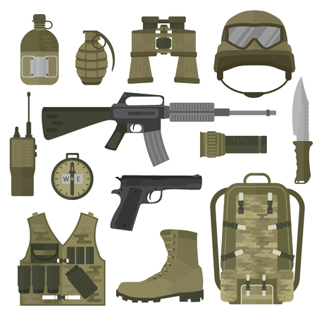 USA or NATO troop military army symbols vector illustration. USA or NATO troop military army symbols isolated on white background. USA or NATO troop military army symbols vector silhouette Illustration