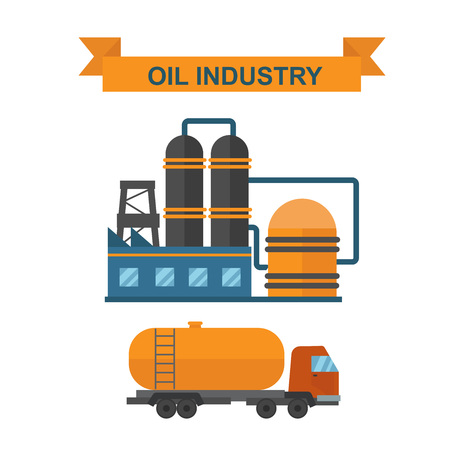 oil and gas industry: Oil gas industry manufacturing and oil gas icons. World oil gas production infographic distribution and petroleum extraction rate business infochart diagram report presentation design vector.