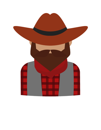 dangerous man: Dangerous criminal bearded man and dangerous flat criminal man in hat vector. Bearded dangerous criminal man cartoon character vector illustration. Danger gangster person icon, western crime silhouette