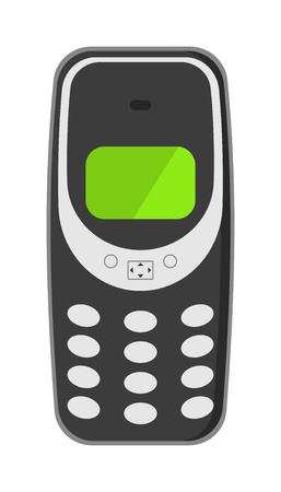 Vieux téléphone mobile clavier vintage et icône du vieux téléphone mobile vecteur antiquité classique. Ancien technologie de téléphonie mobile retro téléphone illustration vectorielle. Banque d'images - 54065360